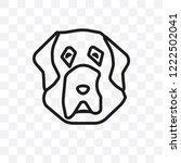tibetan mastiff dog vector... | Shutterstock .eps vector #1222502041