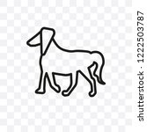 irish terrier dog vector linear ... | Shutterstock .eps vector #1222503787