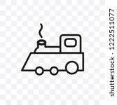 locomotive vector linear icon...   Shutterstock .eps vector #1222511077