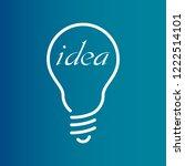 creative idea in bulb shape as... | Shutterstock .eps vector #1222514101