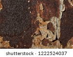metal corroded by rust with...   Shutterstock . vector #1222524037