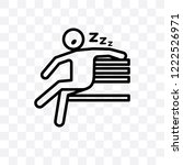 lazy human vector linear icon... | Shutterstock .eps vector #1222526971