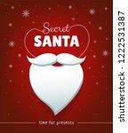 secret santa banner design with ... | Shutterstock .eps vector #1222531387