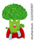 broccoli funny icon. superhero  ... | Shutterstock .eps vector #1222534507