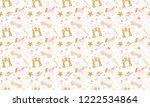 cute girlish seamless pattern... | Shutterstock .eps vector #1222534864