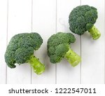 three raw broccoli | Shutterstock . vector #1222547011