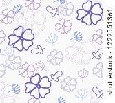 seamless floral pattern | Shutterstock .eps vector #1222551361