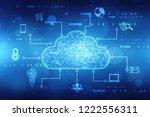 Stock photo  d rendering cloud computing cloud computing concept cloud computing technology internet concept 1222556311