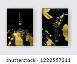 vector black and gold design... | Shutterstock .eps vector #1222557211
