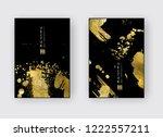 vector black and gold design... | Shutterstock .eps vector #1222557211
