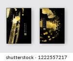 vector black and gold design... | Shutterstock .eps vector #1222557217