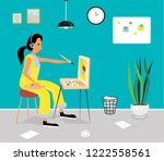 vector flat  illustration of... | Shutterstock .eps vector #1222558561