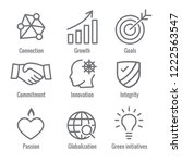 core values outline or line...   Shutterstock .eps vector #1222563547