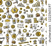 bitcoin  cryptocurrency and... | Shutterstock .eps vector #1222565197