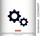 settings vector icon 10 eps   Shutterstock .eps vector #1222566247