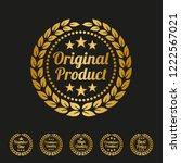 original product label on black ... | Shutterstock .eps vector #1222567021