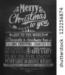 vintage merry christmas and... | Shutterstock .eps vector #122256874
