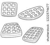 vector set of waffle | Shutterstock .eps vector #1222574677