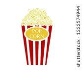 popcorn flat icon   cinema... | Shutterstock .eps vector #1222574944