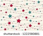 christmas seamless texture line ... | Shutterstock .eps vector #1222580881