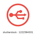 3d usb symbol over white.... | Shutterstock .eps vector #1222584331
