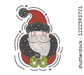 portrait of santa claus in a... | Shutterstock .eps vector #1222593721