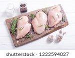 raw chicken breast   fillet  ...   Shutterstock . vector #1222594027