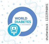 world diabetes day banner with... | Shutterstock .eps vector #1222596841
