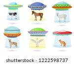 ufo vector alien spaceship or... | Shutterstock .eps vector #1222598737