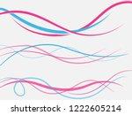 vector blue pink abstract... | Shutterstock .eps vector #1222605214