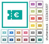 euro discount coupon flat color ... | Shutterstock .eps vector #1222615207