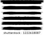 grunge paint stripe . vector... | Shutterstock .eps vector #1222618087