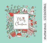 background with christmas and... | Shutterstock .eps vector #1222630861