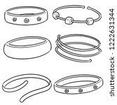 vector set of bracelet | Shutterstock .eps vector #1222631344