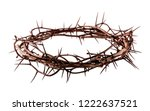 crown of thorns jesus christ... | Shutterstock . vector #1222637521