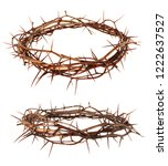 crown of thorns jesus christ... | Shutterstock . vector #1222637527