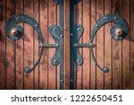 wrought iron gates  ornamental... | Shutterstock . vector #1222650451