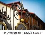 wrought iron gates  ornamental... | Shutterstock . vector #1222651387