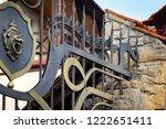 wrought iron gates  ornamental... | Shutterstock . vector #1222651411