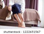 feeling of tiredness. beautiful ...   Shutterstock . vector #1222651567