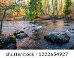 autumn forest river stones...   Shutterstock . vector #1222654927