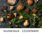 high angle view of a pile of... | Shutterstock . vector #1222656604