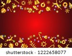 concept of christmas festival... | Shutterstock .eps vector #1222658077