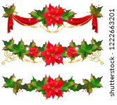 christmas garland with... | Shutterstock .eps vector #1222663201