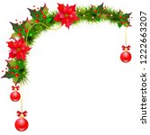 christmas garland with... | Shutterstock .eps vector #1222663207