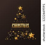 vector merry christmas and... | Shutterstock .eps vector #1222669591