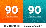 90th anniversary background  ...   Shutterstock .eps vector #1222672267