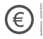 euro glyph icon | Shutterstock .eps vector #1222673191