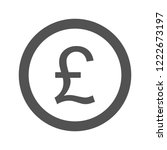 pound glyph icon | Shutterstock .eps vector #1222673197