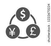 money flow glyph icon | Shutterstock .eps vector #1222673224